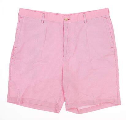 New Mens Peter Millar Golf Shorts 34 Pink MSRP $89 MS18EB91