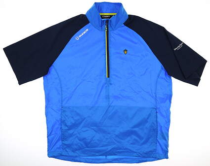 New W/ Logo Mens SUNICE SS Wind Shirt Medium M Blue MSRP $90