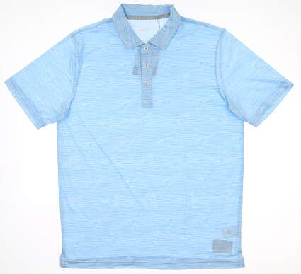 New Mens Puma Golf Polo Medium M Blue Bell MSRP $70