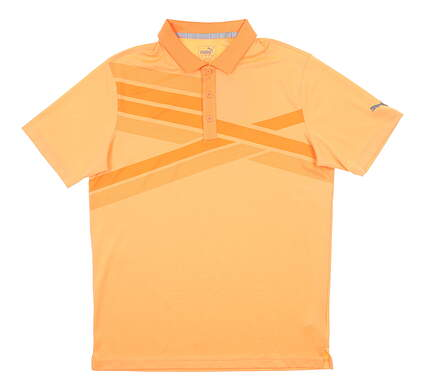 New Mens Puma Alterknit Polo Medium M Cantaloupe MSRP $75 595779 02