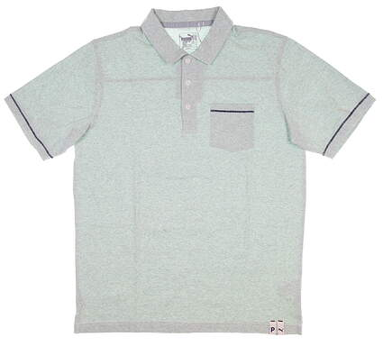 New Mens Puma Slub Polo Medium M Mist Green MSRP $65 595786 02