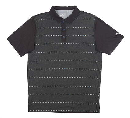 New Mens Puma Fusion Dot Polo Medium M Puma Black MSRP $70 595790 04