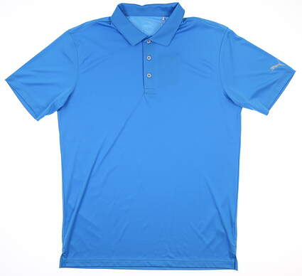 New Mens Puma Rotation Polo Medium M Ibiza Blue MSRP $70 577875 30
