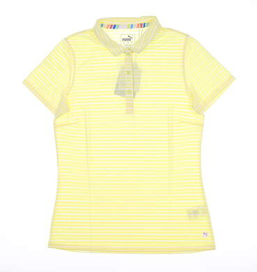 New Womens Puma Drive Polo Small S Yellow MSRP $60 595820 04