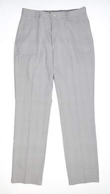 New Mens Puma Plaid Pants 32 x32 Quarry MSRP $80 595812 01