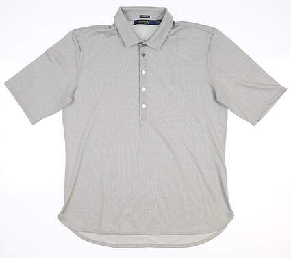 New Womens Ralph Lauren Golf Polo Medium M Gray MSRP $90