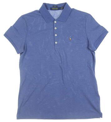New Womens Ralph Lauren Golf Polo Medium M Blue Heather MSRP $90