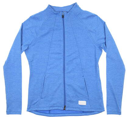 New Womens Puma Warm Up Jacket Small S Palace Blue MSRP $70 595850 05