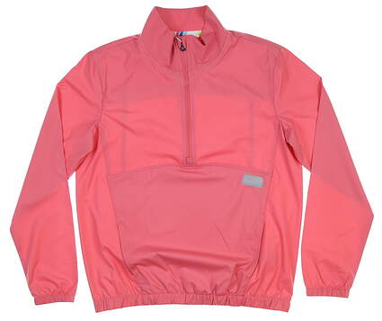 New Womens Puma 1/2 Zip Wind Breaker Small S Rapture Rose MSRP $70 595846 01