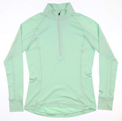 New Womens Puma Rotation 1/2 Zip Pullover Small S Mist Green MSRP $65 577943 11