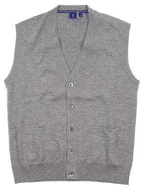 New Mens Footjoy 1857 Cashmere Blend Sweater Vest Small S Gray MSRP $340 24763