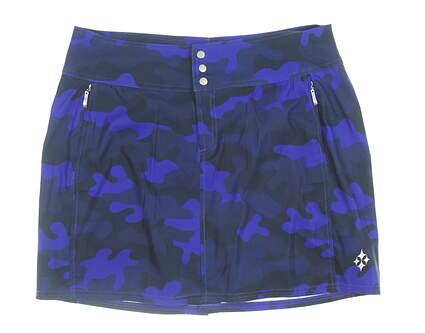 New Womens Jo Fit Camo Golf Skort 6 Blue MSRP $90