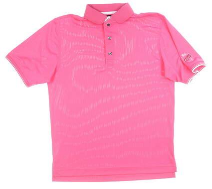 New W/ Logo Mens Footjoy Pique Polo Medium M Pink MSRP $79