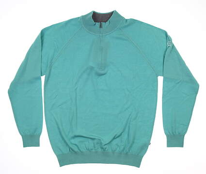 New W/ Logo Mens Ping 1/4 Zip Sweater Medium M Green MSRP $210 P03331
