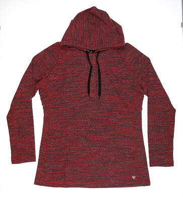 New Womens Straight Down Hoodied Sweatshirt X-Large XL Red MSRP $102 W14214