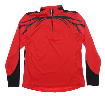 New Womens Jamie Sadock Golf 1/4 Zip Pullover Small S Joy Ride Red MSRP $100 82100