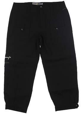 New Womens Jamie Sadock Golf Pants 2 Jet Black MSRP $116 62308