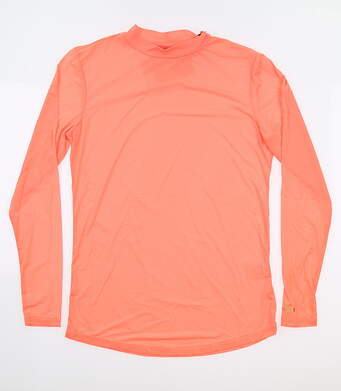 New Womens Jamie Sadock Golf Long Sleeve Mock Neck Small S Orange MSRP $62 62119