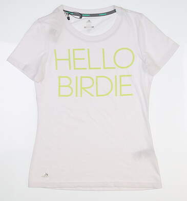 New Womens Adidas Graphic T-Shirt Large L White MSRP $29 TW1052S8