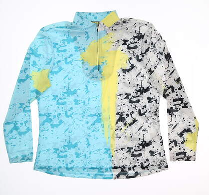 New Womens Jamie Sadock Golf 1/4 Zip Pullover Large L Multi MSRP $82 81141