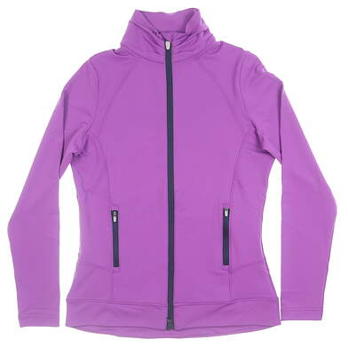 New Womens Peter Millar Full Zip Mock Neck X-Small XS Purple MSRP $129 LF17EK15