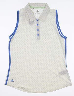 New Womens Adidas Sleeveless Golf Polo Medium M Multi MSRP $60 EI7538