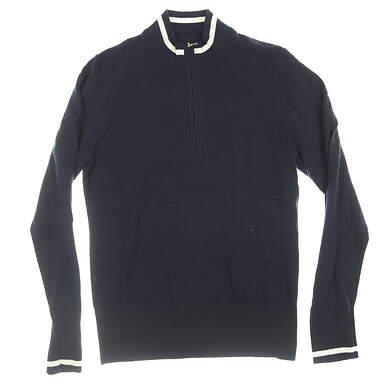 New W/ Logo Womens Cutter & Buck 1/4 Zip Sweater Medium M Navy Blue MSRP $100 LCS0005