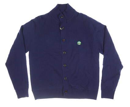 New W/ Logo Mens Fairway & Greene Sailor Cardigan Windsweater Large L Midnight MSRP $200 F11244
