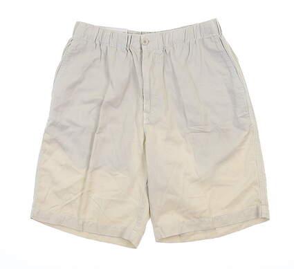 New Mens Peter Millar Golf Shorts 34 White MSRP $70 MS17B06