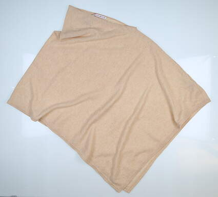 New Womens Peter Millar Cashmere Poncho Cream MSRP $160 LF17A25