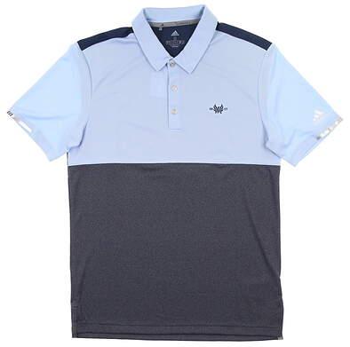 New W/ Logo Mens Adidas Climachill Block Polo Small S Blue MSRP $85 EC6820