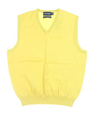 New Mens Ralph Lauren Sweater Vest Medium M Provence Yellow MSRP $80