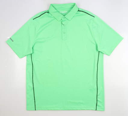 New Mens SUNICE Franko Body Mapping Polo Large L Electric Green MSRP $69 841004