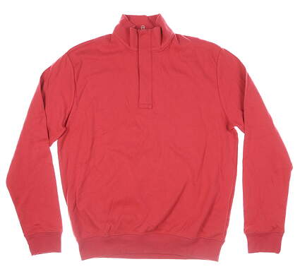 New Mens Ralph Lauren 1/4 Zip Pullover Medium M Red MSRP $89