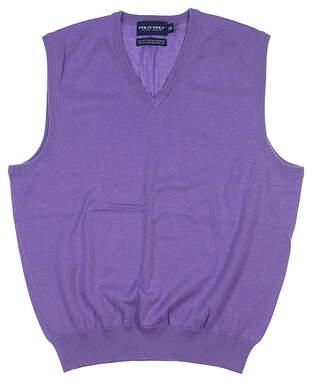 New Mens Ralph Lauren Sweater Vest Medium M Purple MSRP $80