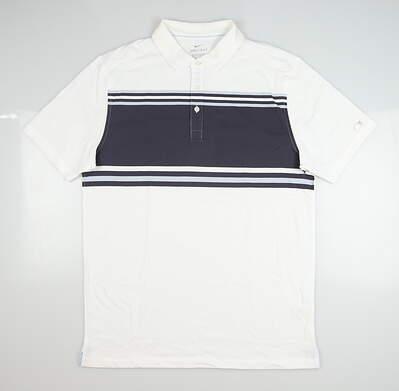 New Mens Nike Golf Polo Medium M White MSRP $85 BV0470