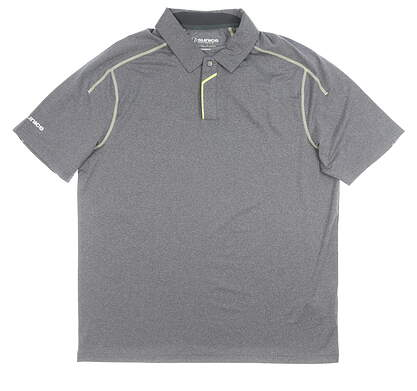 New Mens SUNICE Whitaker Coollite Polo Large L Charcoal MSRP $69 841007