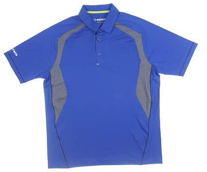 New Mens SUNICE Desmond Coollite Polo Large L Blue Stone MSRP $69 841024
