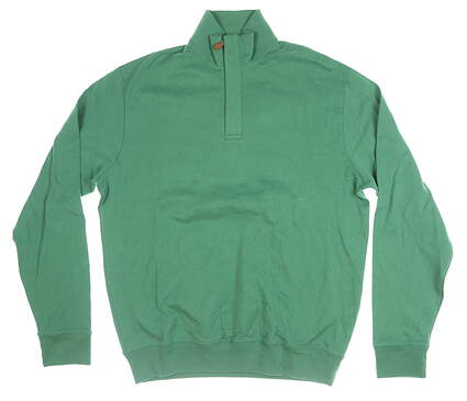 New Mens Ralph Lauren 1/4 Zip Pullover Medium M Green MSRP $89
