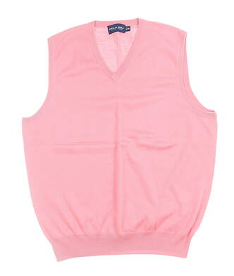New Mens Ralph Lauren Sweater Vest Medium M Pink MSRP $80