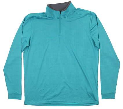 New Mens Under Armour 1/4 Zip Pullover Large L Teal MSRP $70 UM1260