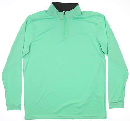New Mens Under Armour 1/4 Zip Golf Pullover Large L Green MSRP $70 UM1281