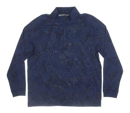 New Mens Under Armour Long Sleeve Mock Neck Large L Blue MSRP $70 UM0697