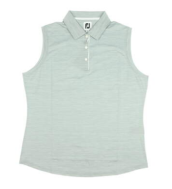 New Womens Footjoy Sleeveless Interlock Polo X-Large XL Gray MSRP $65 25476