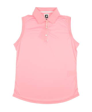 New Womens Footjoy Solid Interlock Sleeveless Polo Medium M Pink MSRP $65 27446