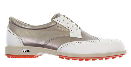 New Womens Golf Shoe Ecco Classic Hybrid 40 (9-9.5) Med White/Silver MSRP $220