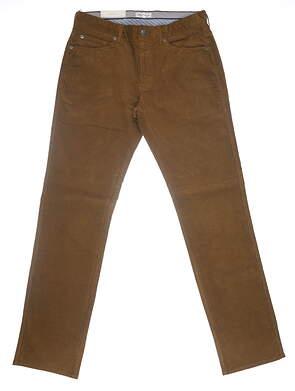 New Mens Peter Millar Corduroy Pants 35 Brown MSRP $145 MF19B29