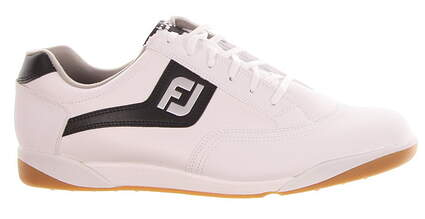 New Mens Golf Shoe Footjoy FJ Originals Wide 10 White/Black MSRP $80 45345
