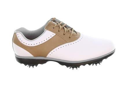 New Womens Golf Shoe Footjoy eMerge Medium 8 White/Brown MSRP $90 93914