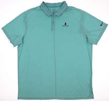 New W/ Logo Mens Nike Golf Polo XX-Large XXL Blue MSRP $85 BV6912